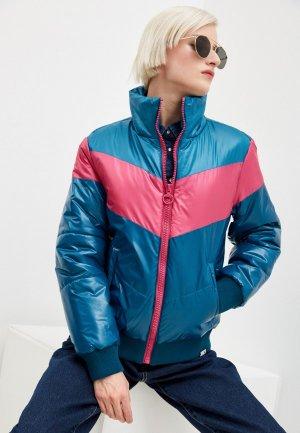 Куртка утепленная Juicy Couture. Цвет: синий
