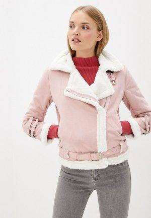 Дубленка Modelle. Цвет: розовый