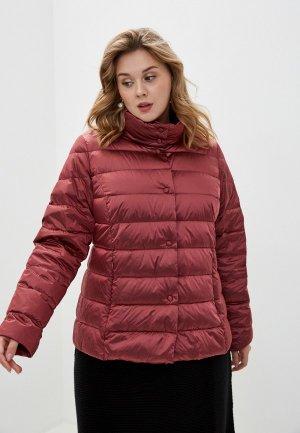 Куртка утепленная Persona by Marina Rinaldi. Цвет: бордовый