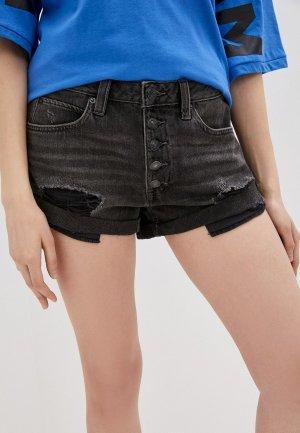 Шорты джинсовые Free People. Цвет: черный