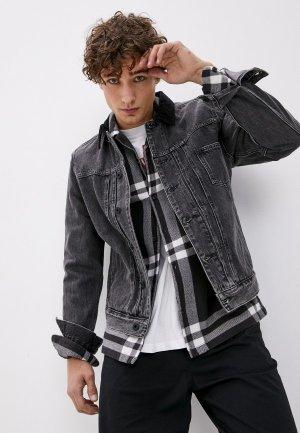 Куртка джинсовая AllSaints. Цвет: черный
