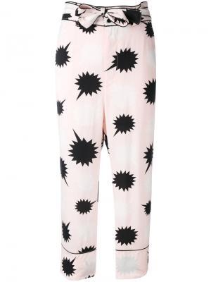 Пижамные брюки с завязкой на бант Diesel. Цвет: розовый и фиолетовый