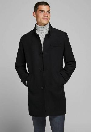 Пальто Jack & Jones. Цвет: черный