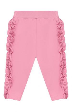 Хлопковые брюки Monnalisa. Цвет: розовый