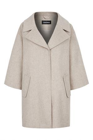 Пальто шерстяное La Reine Blanche. Цвет: бежевый