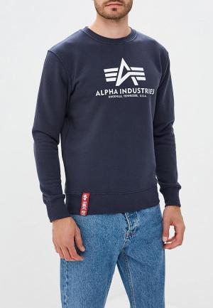 Свитшот Alpha Industries. Цвет: синий