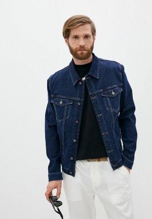 Куртка джинсовая 7 For All Mankind. Цвет: синий