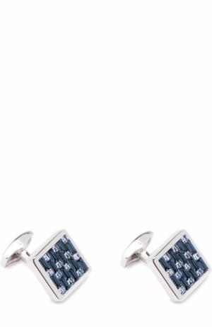 Запонки с отделкой Tateossian. Цвет: голубой