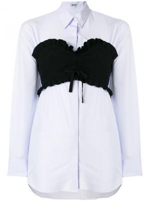 Длинная рубашка-бюстье Kenzo. Цвет: синий