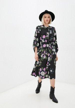 Платье Ichi. Цвет: разноцветный