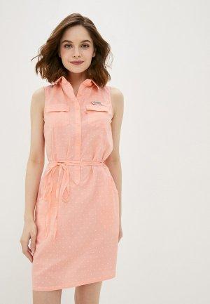 Платье Columbia. Цвет: розовый