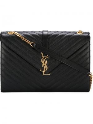 Большая сумка на плечо Monogram Saint Laurent. Цвет: чёрный
