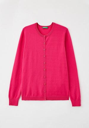 Кардиган United Colors of Benetton. Цвет: розовый