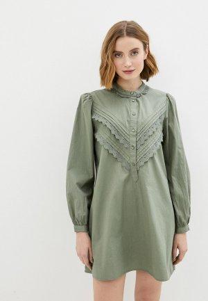 Платье Jacqueline de Yong. Цвет: хаки