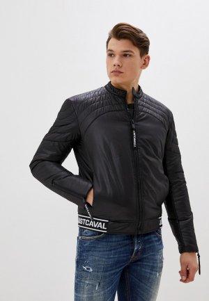 Куртка утепленная Just Cavalli. Цвет: черный