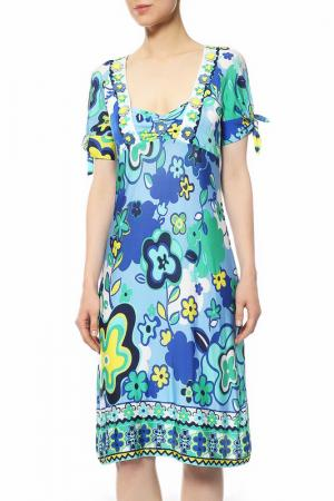 Платье CLIPS MORE. Цвет: мультиколор