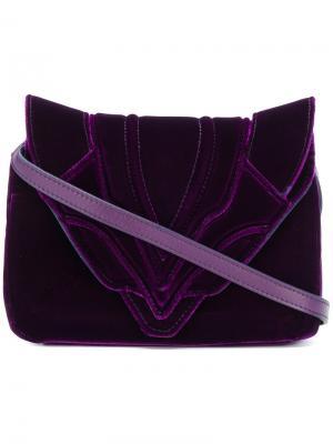 Сумка-конверт через плечо Elena Ghisellini. Цвет: розовый и фиолетовый