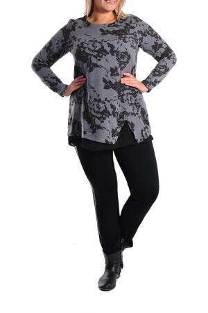 Блуза Forus. Цвет: темно-серый