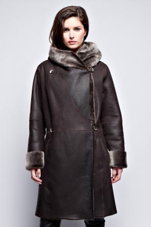 Sheepskin coat JOHN & YOKO. Цвет: dark brown