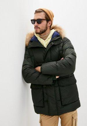 Куртка утепленная Hetrego. Цвет: зеленый