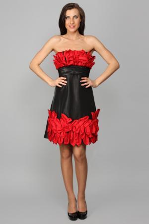 Платье Aftershock. Цвет: red
