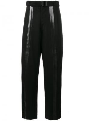 Многослойные брюки с резиновыми швами Loro Piana Mackintosh 0001. Цвет: чёрный