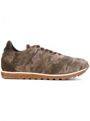 Камуфляжные кроссовки Alberto Fasciani. Цвет: зелёный