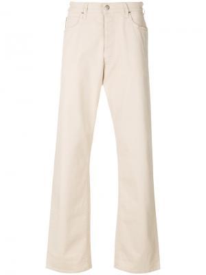 Расклешенные джинсы свободного кроя Armani Jeans. Цвет: телесный