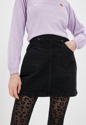 Юбка джинсовая Kenzo. Цвет: черный