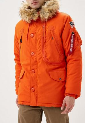 Куртка утепленная Alpha Industries. Цвет: оранжевый