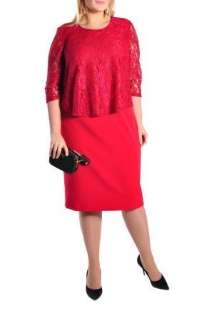 Платье Forus. Цвет: красный