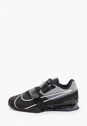 Штангетки Nike. Цвет: черный