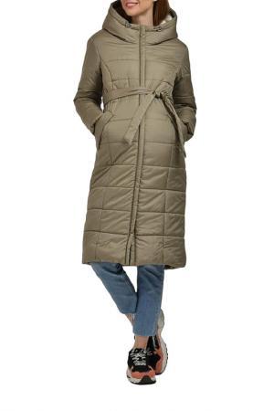 Пальто Modress. Цвет: хаки